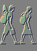 Backpackers Icons poster