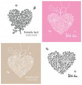 Beautiful lacy greeting cards