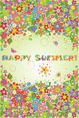 Summery colorful banner