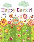 Easter seamless postcard