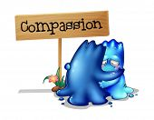 foto of compassion  - Illustration of the two compassionate monsters on a white background - JPG