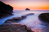 Sunset At Trebarwith Strand Cornwall