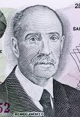 COSTA RICA - CIRCA 1993: Ricardo Jimenez Oreamuno (1859-19458) on 100 Colones 1993 Banknote from Cos