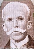 BRAZIL - CIRCA 1987: Rui Barbosa (1849-1923) on 10 Cruzados 1987 Banknote from Brazil. Brazilian wri