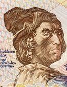 PORTUGAL - CIRCA 1991: Bartolomeu Dias (1451-1500) on 2000 Escudos 1991 Banknote from Portugal. Nobl