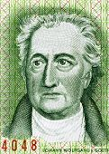 EAST GERMANY - CIRCA 1975: Johann Wolfgang von Goethe (1849-1932) on 20 Marks 1975 Banknote from Eas