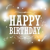 illustration of Happy Birthday Typography background