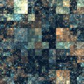Cube Shape Kaleidoscope Abstract Background.