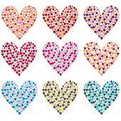 Colorful heart shape