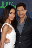 LOS ANGELES - JUL 17:  Maggie Q, Dylan McDermott at the CBS TCA July 2014 Party at the Pacific Desig