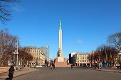 LATVIA, RIGA, Freedom Monument, 2012 - March 4.