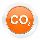 carbon dioxide orange computer icon