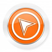 navigation orange computer icon