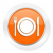 restaurant orange computer icon