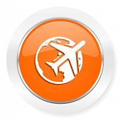 travel orange computer icon