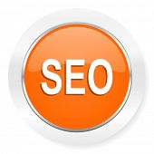 seo orange computer icon