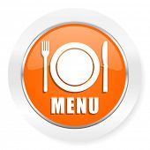 menu orange computer icon