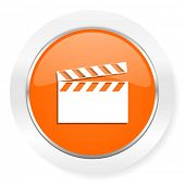 video orange computer icon