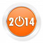year 2014 orange computer icon
