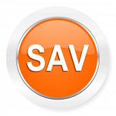 sav orange computer icon