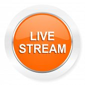live stream orange computer icon