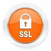 ssl orange computer icon