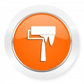 brush orange computer icon