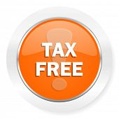tax free orange computer icon