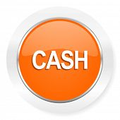 cash orange computer icon