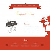 Restaurant website design template, easy all editable