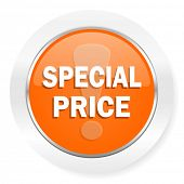 special price orange computer icon