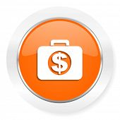 financial orange computer icon