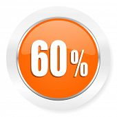 60 percent orange computer icon