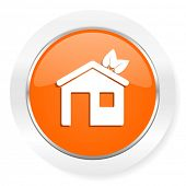 house orange computer icon