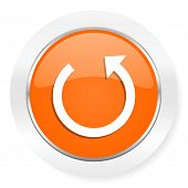 rotate orange computer icon
