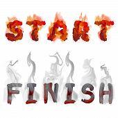 Burning Inscription Start And Finish
