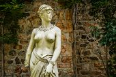 stock photo of dukes  - Classical statue in the old barn at Duke Farms in Hillsbourough NJ - JPG