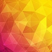 Abstract vector background. Geometric triangles design.