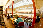 MELBOURNE, AUSTRALIA - July 3, 2014: Redmond Barry reading room at the State Library of Victoria in