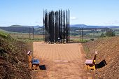Metal Sculpture Of Nelson Mandela At Capture Site In Howick
