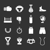 Set Icons Of Boxing
