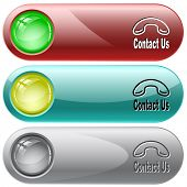 Contact us. Raster internet buttons.