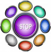 Stop. Internet icons. Raster illustration.