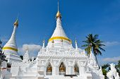 White Pagoda Architecture Of Northern Thailand.