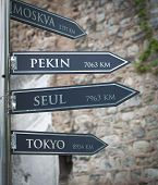 Signpost In Istanbul
