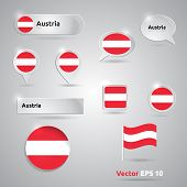 Austria Icon Set Of Flags