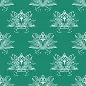 Dainty persian floral seamless pattern