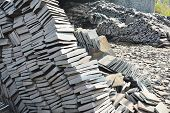 image of shale  - Stack of Shale stone for home decorating ready to sell - JPG