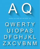 Classic alphabet with modern long shadow effect. Shadows has been made with blend and transparency s