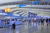 Kansai International Airport departure hall Osaka Japan